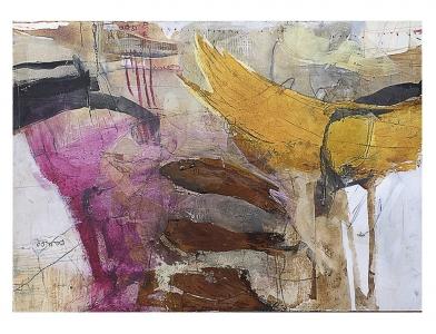Andrea Rozorea - Galerie: Collage - Nicht Fisch nicht Vogel *verkauft*