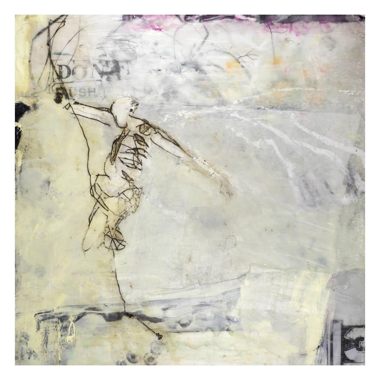 Andrea Rozorea - Galerie: Zeichnung unter Wachs - Salomon's Idee I