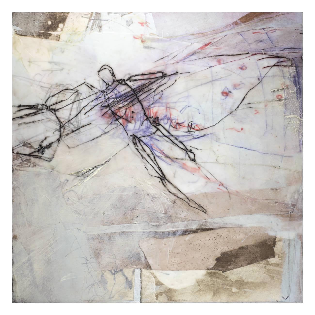 Andrea Rozorea - Galerie: Zeichnung unter Wachs - Salomon's Idee II
